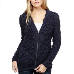 {LUCKY BRAND} Bomber Zip Up Navy Cardigan